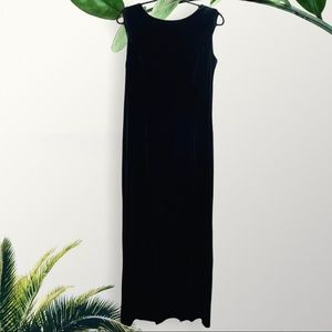 Night Way Collections Velvet Like Drape Back Gown